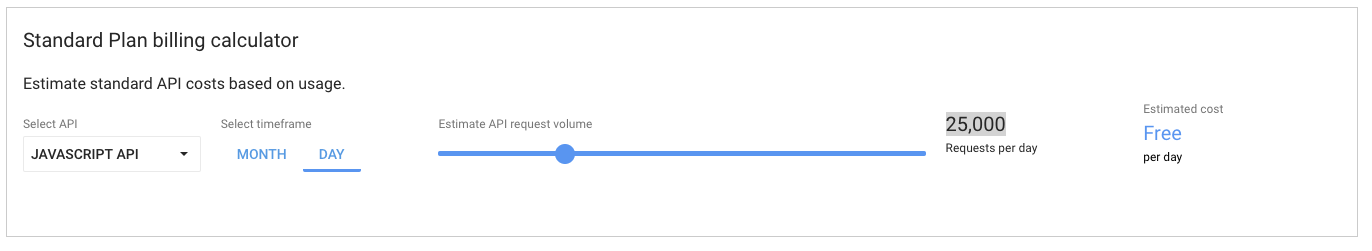 Google Maps prijzen selecteren