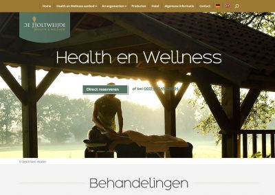 Website met focus op sfeer en beleving
