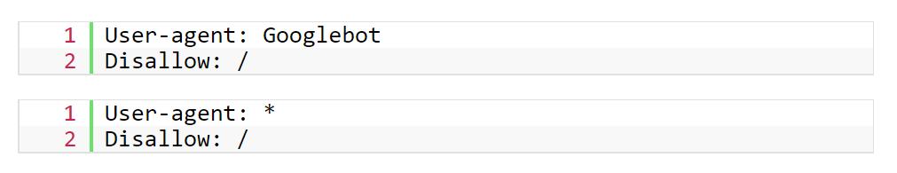 robot.txt blokkering indexeren